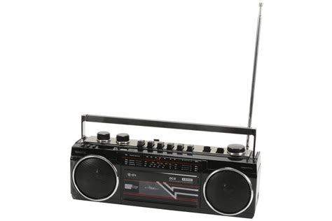 Rd Ijo Bpom ace retro cassette radio boom box bluetooth sd black