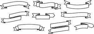 Resource Mockup: Vector Doodled Ribbons (AI) - a ...