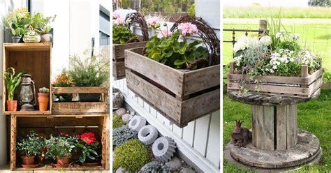 decorare il giardino con le cassette di legno 20 idee