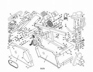 Healthrider Model Hrex36500 Cycle Genuine Parts