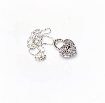 Repurposed Dior Charm Necklace