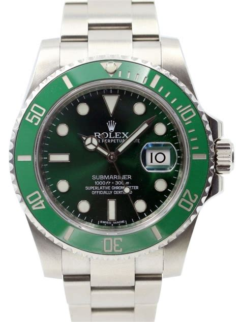rolex submariner 116610lv green ceramic s 40mm stainless steel oyster date pre owned