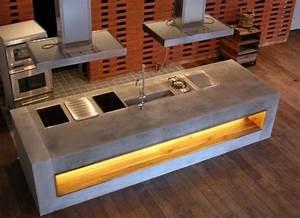 Kücheninsel Selber Bauen : k chenblock aus beton m beldesigner haben beton f r sich ~ Lizthompson.info Haus und Dekorationen