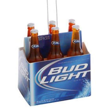 Bud Light 6 Pack by Kurt Adler Budweiser Bud Light 6 Pack Mini Ornament