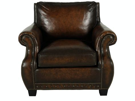 traditional genuine top grain brown leather club chair ebay