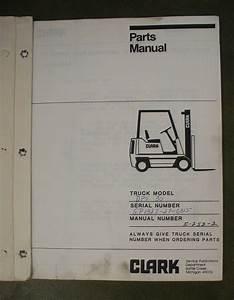 Clark Dps C500 Forklift Fork Lift Truck Parts  Repair