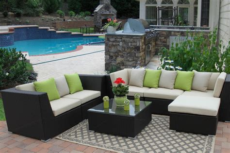 outdoor patio paradise eurolux patio verano wicker sofa