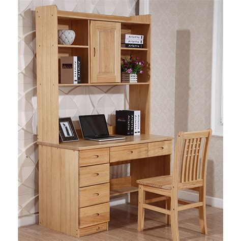 study table with bookshelf for children solid wood computer desk with bookcase cabinet Study Table With Bookshelf For Children
