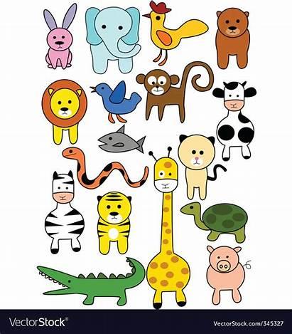 Doodles Animal Vector Vectorstock Royalty
