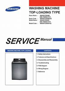 Samsung Wa45h7200ap A2 Washer Service Manual And Diy