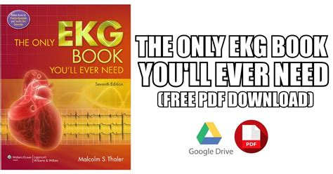 The Only Ekg Book You'll Ever Need Pdf Free Download