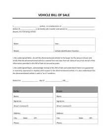 Sle Of A Bill Of Sale For An Automobile by Auto Bill Of Sale Template Calendar Template Site