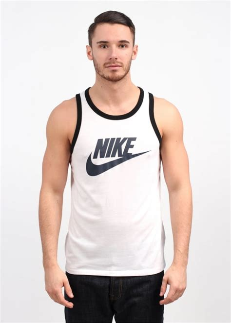 tank top logo vest merah nike ace logo tank top white
