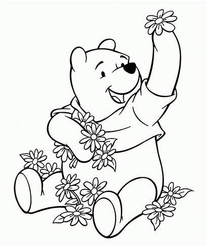 Coloring Pages Disney Pooh Winnie Characters Animal