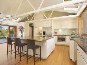 Kitchens Ideas by Modern Island Kitchen Design Using Floorboards Kitchen