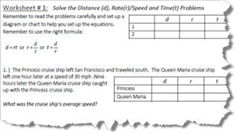 Distance Rate Time Formula  Solving Problems