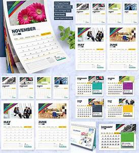 Calendar design template wall and desk free download