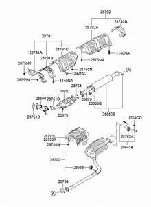 2009 Hyundai Sonata Pipe - Exhaust Front