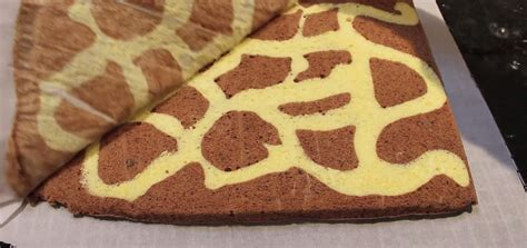 wonderful diy swiss roll cake  giraffe pattern