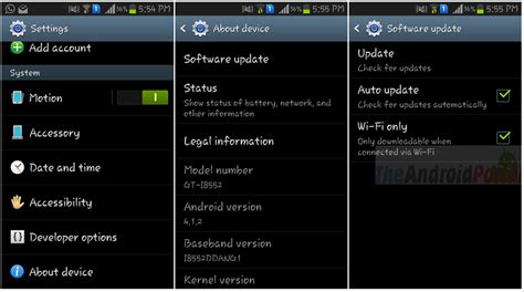 updates for android how to update android smartphone manually guide