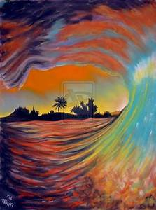 Ocean Wave At Sunset by Pastel-Lover on DeviantArt