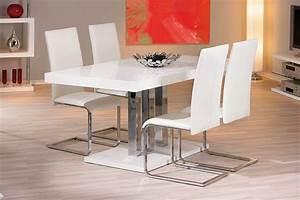 Table Manger Design Blanc Laqu ORIANE Miliboo