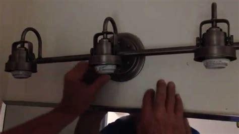 installing bathroom light fixture how to install a bathroom light fixture part 2 youtube