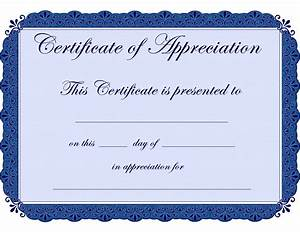 appreciation certificate template certificate templates With template for a certificate of appreciation