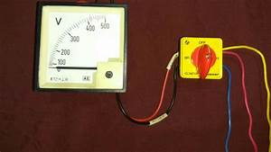 Voltmeter Selector Switch Working And Wiring In Hindi By