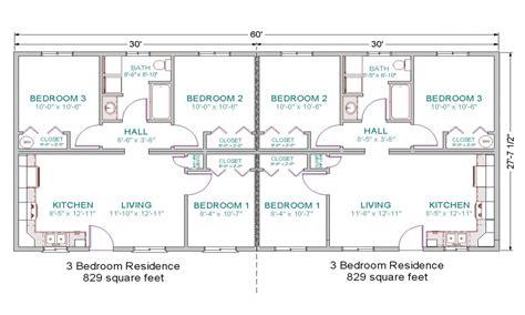3 Bedroom Duplex Floor Plans Simple 3 Bedroom House Plans