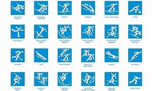 PyeongChang 2018 officially unveiled sport pictograms for ...