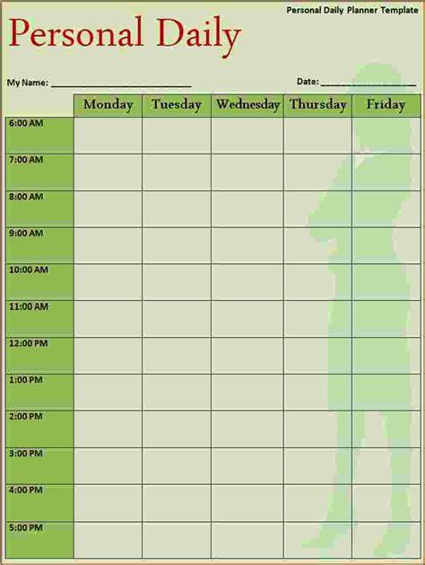 Daily Calendar Template 5 Free Daily Calendar Template Ganttchart Template