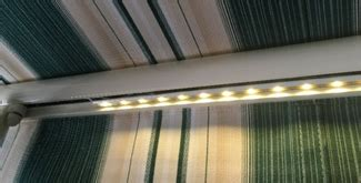 dimmable led awning lighting retractable deck patio awnings