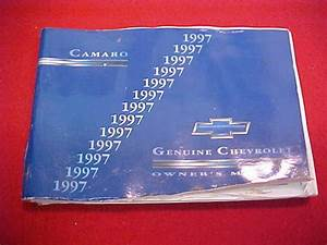 1997 Camaro Original Owners Manual Service Guide Book 97