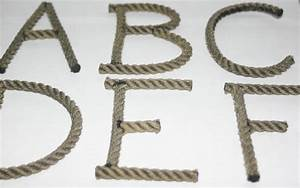 rope letters custom upcycled rope nautical decor great for With custom rope letters