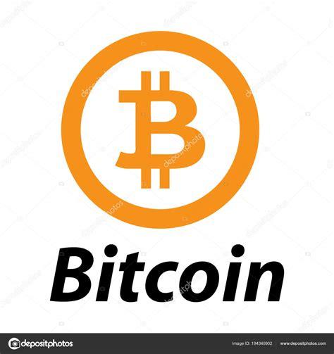 bitcoin logo krypto waehrung computer geld vektor grafiken