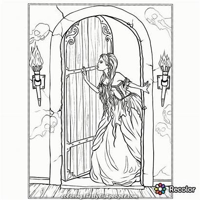 Coloring Gothic Adult Steampunk Printable Dark Thestylishpeople