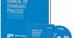 Crsi U2019s Manual Of Standard Practice Now Available