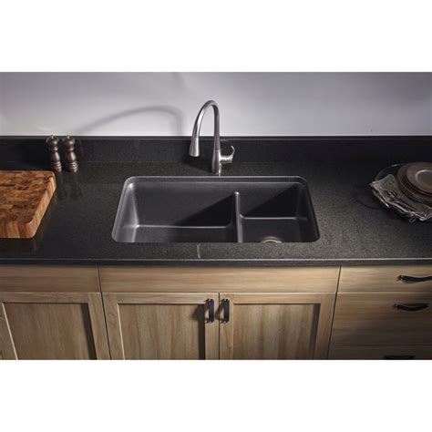 black undermount kitchen sinks kohler k 8204 cm1 cairn matte black undermount bowl 4759