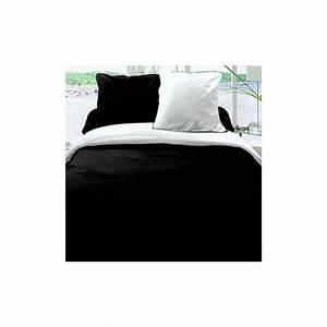 Housse De Couette Noir Et Blanc : achat housse de couette r versible coton 220x240 noir blanc pas cher ~ Teatrodelosmanantiales.com Idées de Décoration