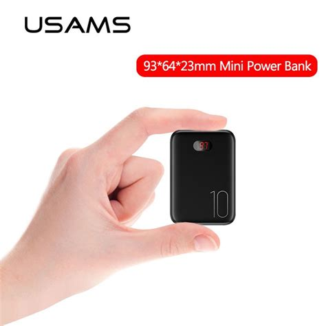 mini power bank mah usams powerbank portable external battery fast charging powerbank led