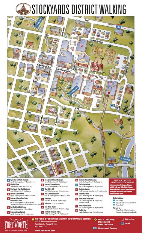 stockyards district walking map fort worth maps