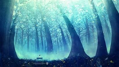 Alone Forest Fantasy Mist Desktopography Wallpapers Landscape