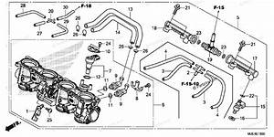 Honda Motorcycle 2015 Oem Parts Diagram For Throttle Body