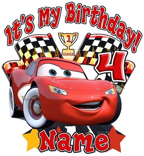 Car Disney Lightning Mcqueen White Personalized Birthday T
