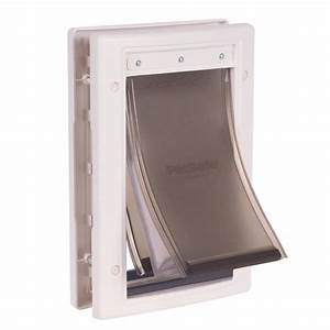 shop petsafe extreme weather small white plastic pet door With lowes petsafe dog door