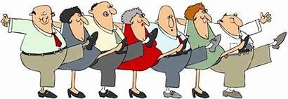 Balance Strength Seniors Exercising Clipart Fitness Classes