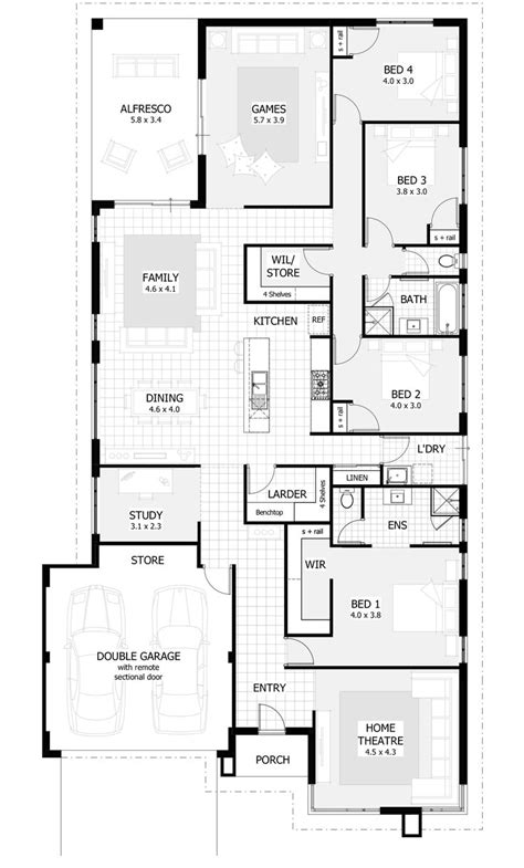 4 br house plans best 25 single storey house plans ideas on