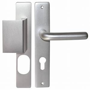 poignee sur plaque et paliere porte exterieure leo percage With poignee de porte exterieure moderne