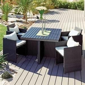 Table De Jardin 4 Personnes : table jardin 4 personnes table de jardin solde trendsetter ~ Teatrodelosmanantiales.com Idées de Décoration